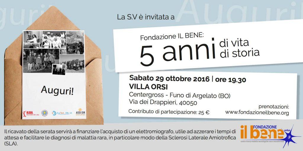 Bologna: la Fondazione il BeNe festeggia i suoi primi 5 anni di vita