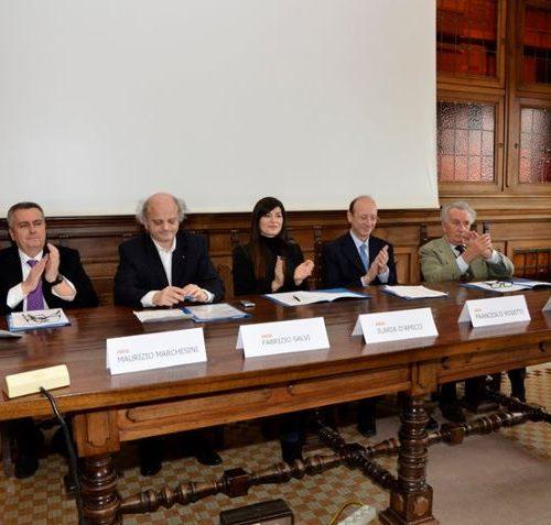 Da Sx: Dr M. Marchesini, Dr F. Salvi, Ilaria D'amico, Dr F. Rosetti, Dr G. Guidi