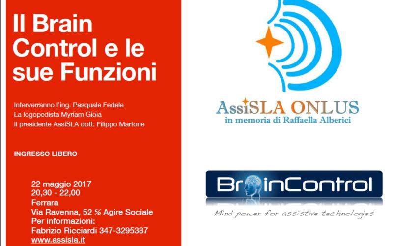 Lunedì 22 Aprile: Ferrara – Presentazione Del Dispositivo BRAIN CONTROL Per I Malati Di SLA